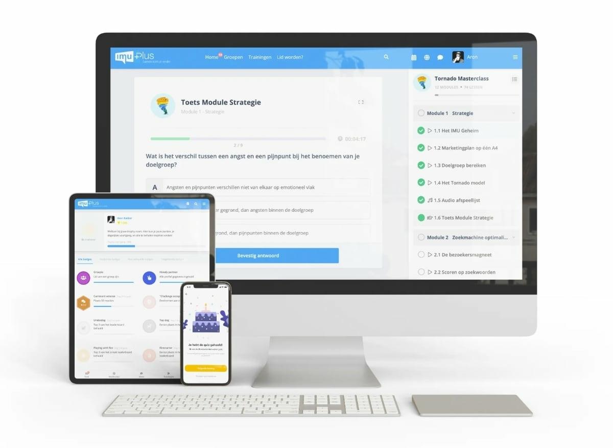 E-learning software met toetsing