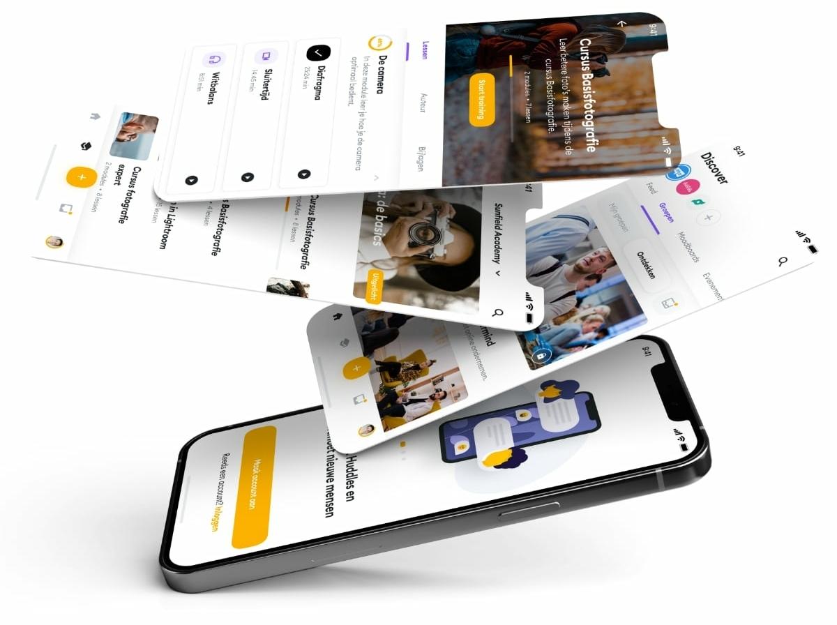Ledensite app voor community en online trainingen