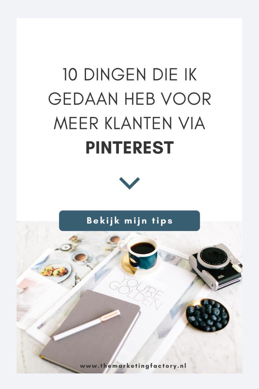 Bekijk hier de top 10 dingen die ik gewijzigd heb in mijn Pinterest marketing strategie om meer website bezoekers en klanten aan te trekken via Pinterest. Tegenwoordig is dit voor mij een belangrijk online marketing kanaal, maar dat is niet altijd zo geweest. Hier vind je mijn Pinterest marketing tips tips