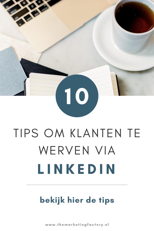 Bekijk deze 10 praktische Linkedin marketing tips om klanten te vinden via Linkedin. Van alle social media kanalen is Linkedin een mooi kanaal om potentiële klanten te vinden. Om te connecten met onbekenden en daar warme prospects van maken. Klik snel verder voor deze handige Linkedin tips