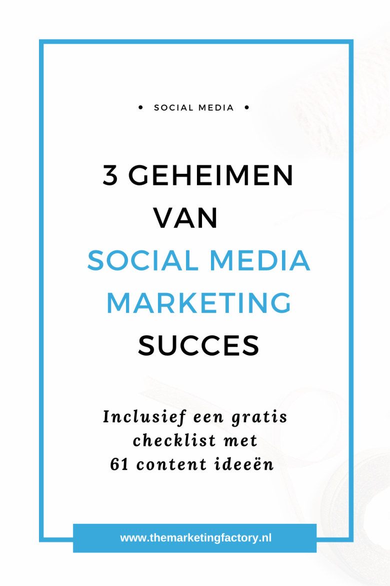 Wil je meer klanten via social media? Bekijk deze 3 super praktische tips voor meer klanten via social media | social media marketing | social media strategie | social media strategy | sociale media tips | social media tips | gratis social media training | online ondernemen | online zichtbaarheid | online marketing strategie | online verkopen | sociale media tips | online ondernemen | online geld verdienen #themarketingfactory