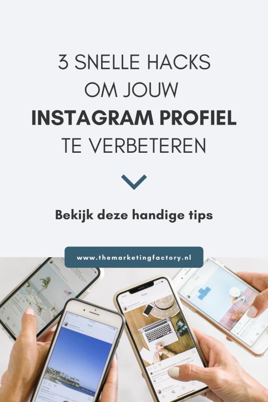Handige tips die je direct kunt toepassen om je Instagram profiel te verbeteren. Vertel wat je doet, voeg een goede link toe aan je Instagram profiel en gebruik ook Instagram hoogtepunten om stukjes van een Instagram Story te bewaren