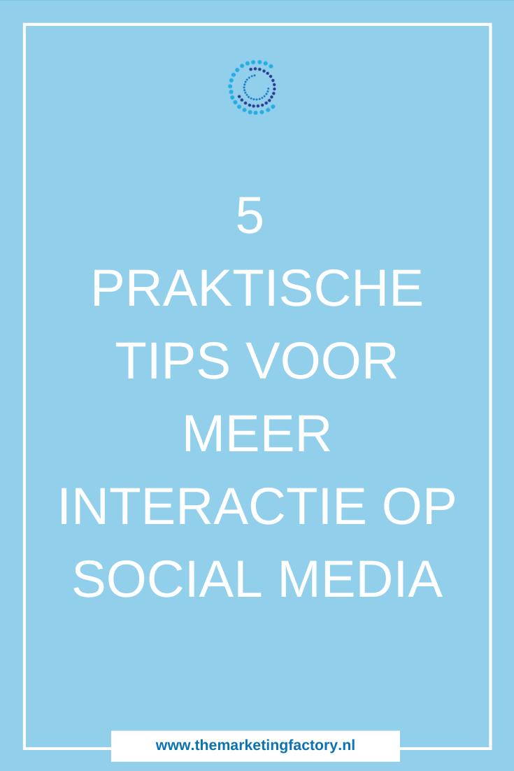 Wil je meer interactie op social media? Gebruik deze praktische tips om meer interactie op social media uit te lokken | social media tips | social media volgers | online zichtbaarheid | online marketing tips | social media strategie | content marketing tips | #socialmediatips #themarketingfactory #socialtalk #podcast