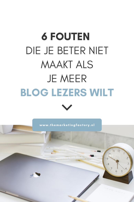 Geld verdienen met bloggen? En wil je meer blog lezers krijgen? Natuurlijk is het niet leuk als je uren spendeert om je blog te schrijven en vervolgens niemand je blog leest. Dat is frustrerend. Je stopt hier je ziel en zaligheid in. Misschien dat je deze fouten maakt met je blog. Bekijk deze 6 handige tips zodat je meer klanten op je blog krijgt
