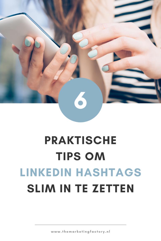 Er is zo veel content op Linkedin dat het steeds lastiger wordt om de juiste content te vinden. Juist hashtags zijn een mooie manier om berichten te filteren. Door op Linkedin hashtags te zoeken, kun je gemakkelijk de juiste content vinden. Zelf kun je ook hashtags op Linkedin gebruiken om je content een categorie of label te geven zodat deze beter gevonden wordt. Bekijk hier 6 tips om Linkedin hashtags slim in te zetten