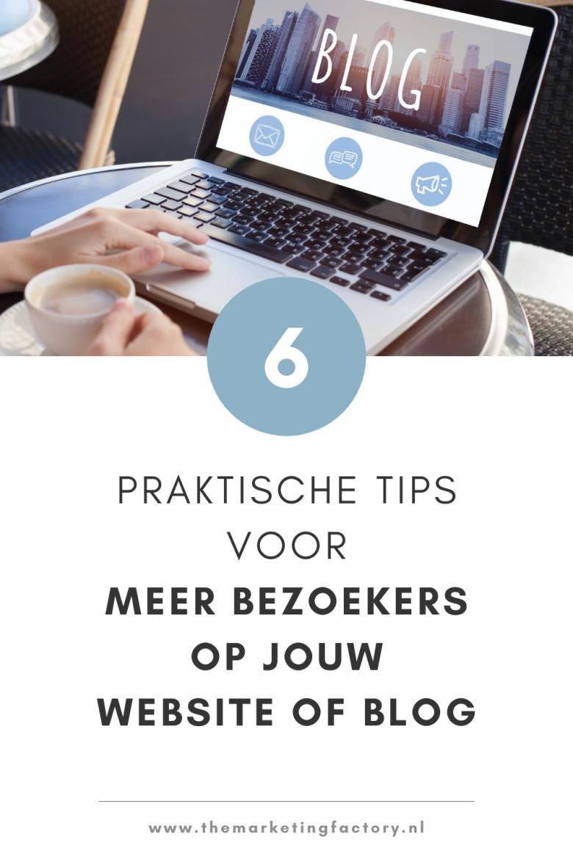 Geld verdienen met bloggen? Bekijk deze handige bloggen voor beginners tips als je meer bezoekers op je website of blog wilt. Er zijn een aantal fouten die vaak gemaakt worden waardoor je te weinig traffic en verkopen krijgt. 6 praktische tips om meer lezers op je blog te krijgen