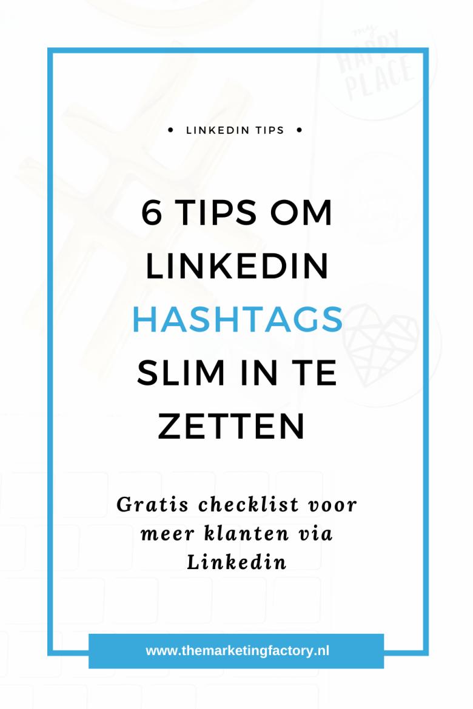 Hoe kun je Linkedin hashtags slim inzetten? Bekijk deze praktische Linkedin tips om meer klanten via dit platform aan te trekken. Ook mensen buiten je eigen netwerk kunnen je Linkedin posts vinden doordat ze zoeken op bepaalde hashtags. Bekijk hier 6 handige tips over hashtags op Linkedin