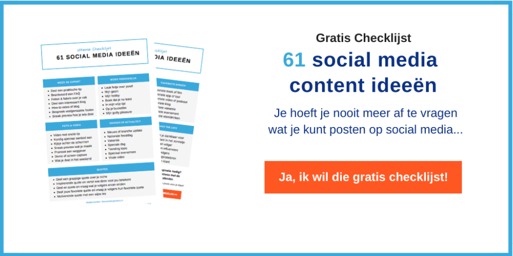 61 social media content ideeen aanvragen