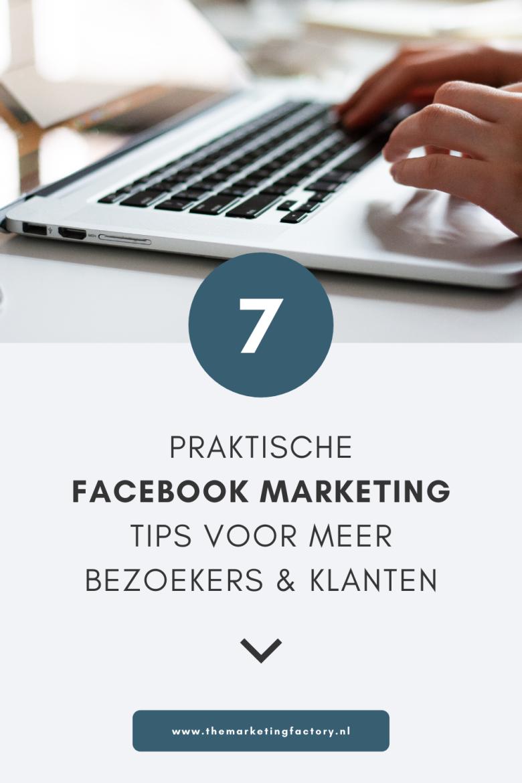 Serieus aan de slag met Facebook marketing als ondernemer of blogger? Bekijk deze 7 handige Facebook marketing tips. Je hebt veel social media kanalen die je kunt inzetten voor je online zichtbaarheid en om klanten te werven. Facebook is nog steeds een krachtig social media platform. Klik hier voor 7 praktische Facebook tips