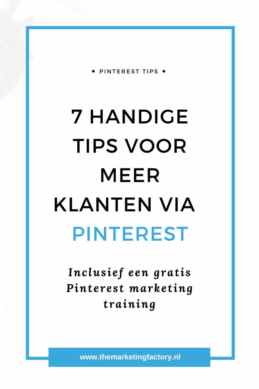 Meer website bezoekers met Pinterest. Ontdek hoe je Pinterest zakelijk inzet met deze praktische Pinterest marketing tips | Pinterest marketing strategies | Pinterest marketing for beginners | social media tips | online marketing | bedrijf promoten | online verkopen | social media plan | hoe werkt pinterest | hoe werkt pinterest zakelijk | #themarketingfactory
