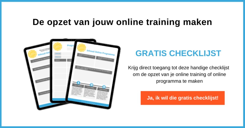 structuur van een online training maken