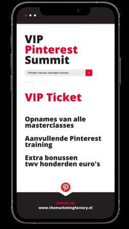 aanmelden VIP ticket 1 juli Pinterest Summit.