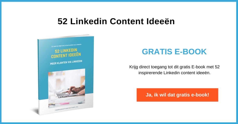 Aanvragen 52 Linkedin content ideeen
