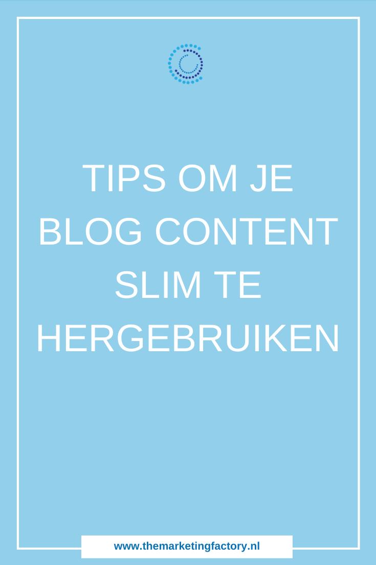 Praktische tips om je content slim in te zetten voor het werven van nieuwe klanten | content recyclen | Nieuwe klanten werven via content marketing | content strategie | content hergebruiken | social media strategie | netwerken | zzp | ondernemers | online verkopen | online marketing | online zichtbaarheid | sociale media tips | content marketing tips | online ondernemen | #contentmarketing #themarketingfactory