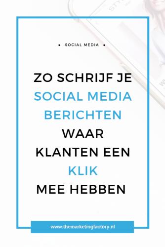 Vind jij het een uitdaging om goede social media posts te maken waar mensen aandacht aan besteden? Het wordt steeds drukker op social media, maar als je dit zakelijk inzet, wil je wel dat het je uiteindelijk wat oplevert. Je wilt dat mensen er aandacht aan besteden en waarschijnlijk wil je hier ook nieuwe klanten mee aantrekken. Maar hoe maak je goede social media berichten die klanten aantrekken?   social media tips   social media marketing   goede social media berichten   #socialmediatips #themarketingfactory #onlinemarketing