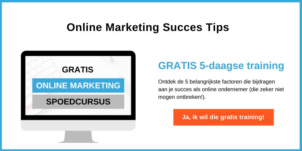 gratis online marketing training