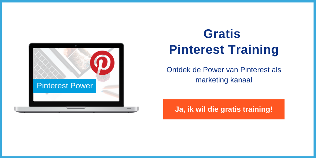 Gratis Pinterest marketing training van Maaike Gulden van Themarketingfactory.nl