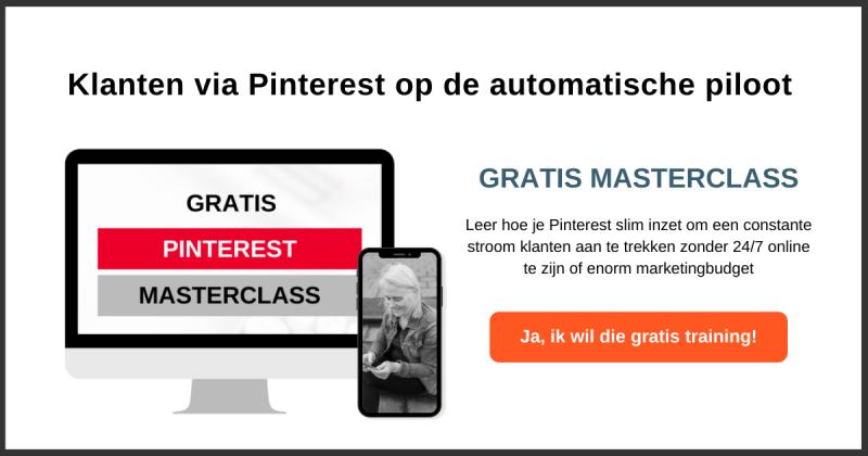 Gratis online Pinterest training