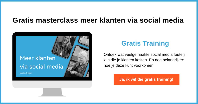 Gratis social media masterclass - goede Pinterest strategie