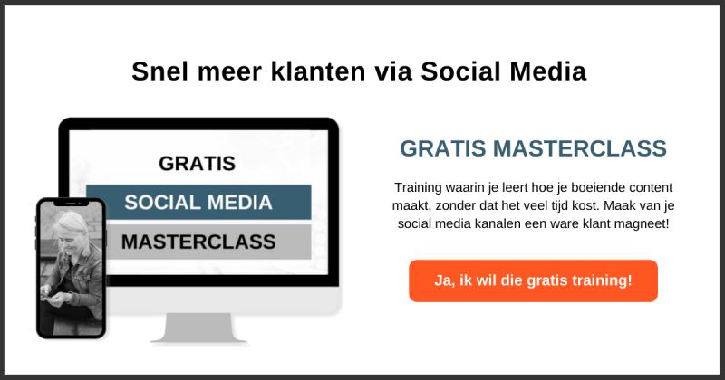 Gratis social media training - snel meer klanten via social media