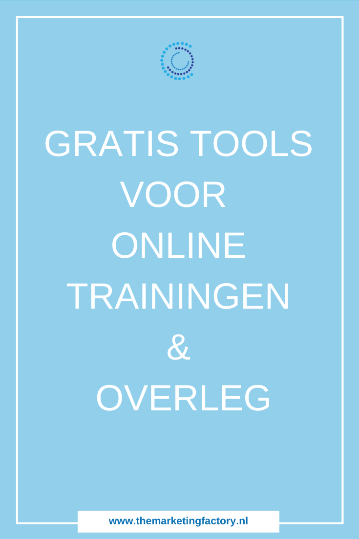 Ook online kun je met klanten overleggen of groepstrainingen geven. Overzicht van gratis tools voor videobellen, voor online meetings en online trainingen | tools voor videobellen | tools voor online trainingen | online geld verdienen | online ondernemen | online marketing | #themarketingfactory #onlinemarketing