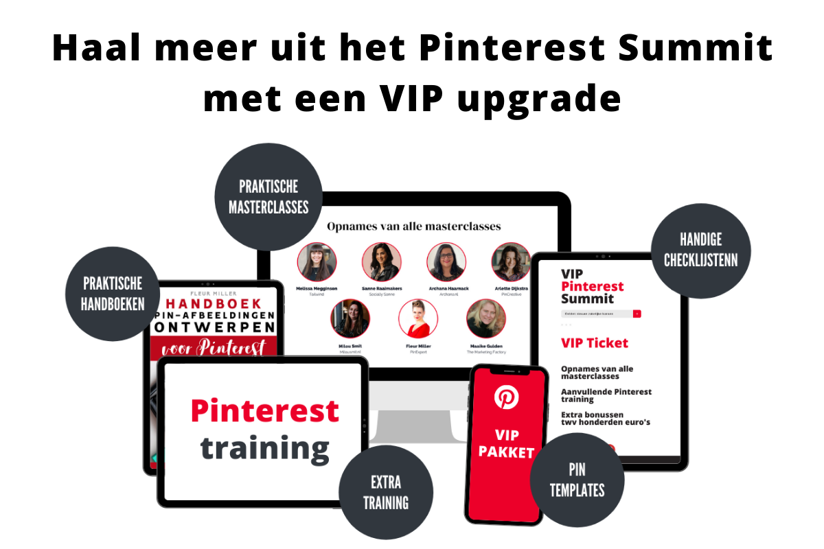 Haal meer uit het Pinterest Summit met een VIP upgrade
