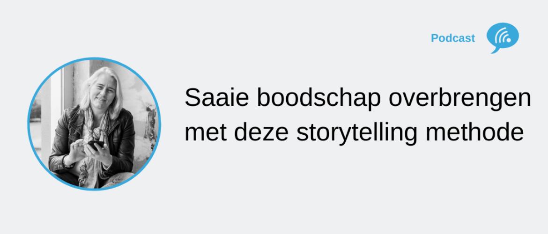 Storytelling methode om een droge of saaie boodschap over te brengen