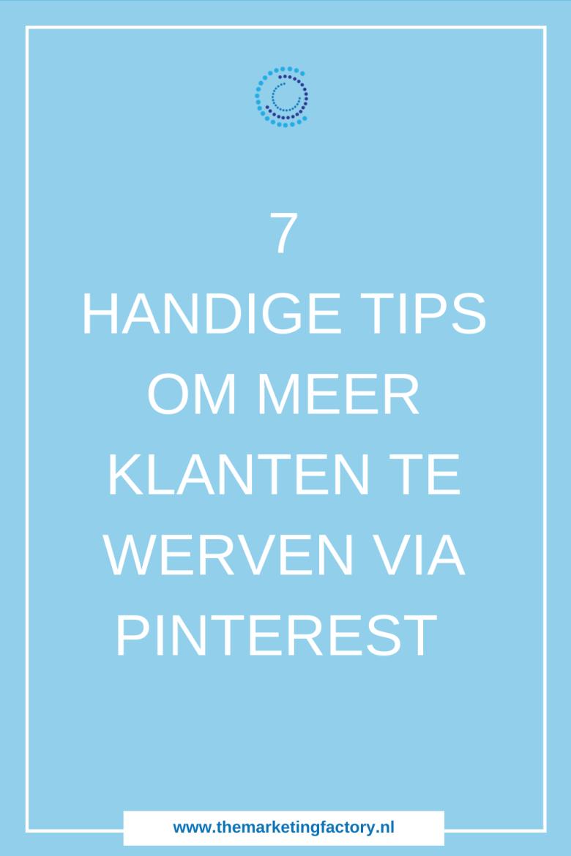 Ontdek hoe je Pinterest slim inzet voor meer website bezoekers en dus klanten. Pinterest is een hele krachtige traffic aanjager om leads en klanten aan te trekken, maar Pinterest is meestal het ondergeschoven kindje van social media | Klanten via Pinterest | Pinterest strategie | Pinterest marketing | Pinterest tips voor beginners | sociale media tips | online marketing | online zichtbaarheid | #themarketingfactory