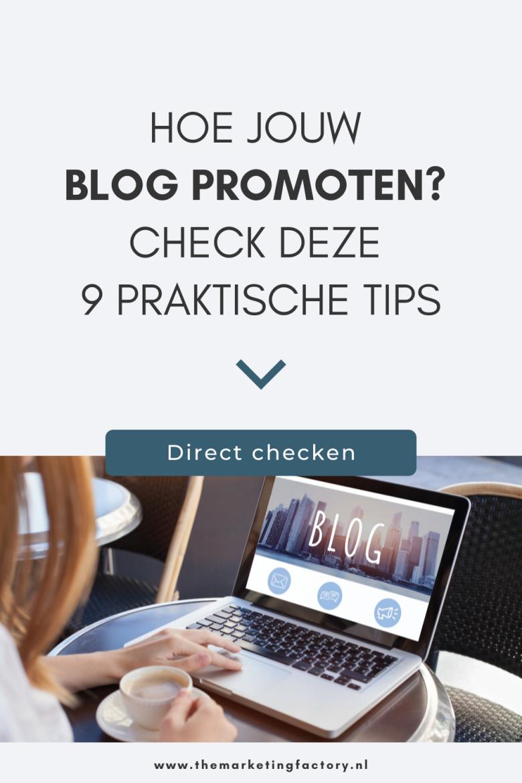 Bekijk deze 9 handige tips om je blog te promoten. Je hebt een geweldig blog gepubliceerd. Maar website bezoekers komen niet vanzelf, hoe interessant of inspirerend je content ook is. Je zult deze zelf moeten promoten. Dus wat kun je doen om je content te promoten? Check deze content marketing tips