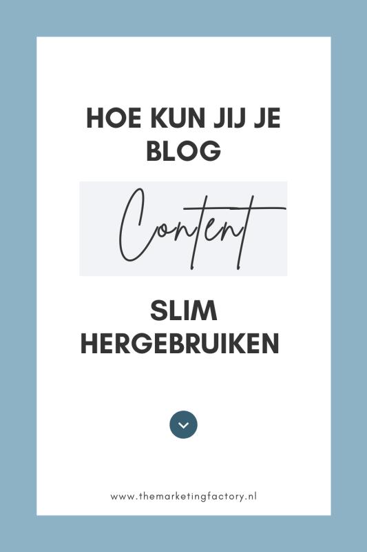 Check deze handige tips om je blog content slim te recyclen. Content delen draagt bij aan je online zichtbaarheid. Al die content maken kost wel tijd. Daarom is het goed om jouw content te hergebruiken