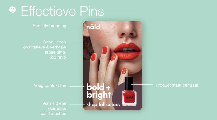 Hoe ziet een effectieve Pinterest pin eruit