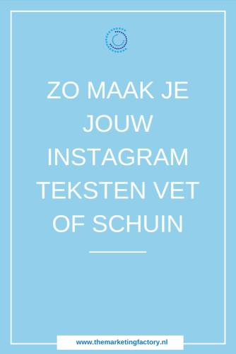 Instagram lettertype wijzigen? Als je door Instagram scrolt, valt het je misschien op dat je soms een Instagram bio ziet met een ander lettertype. Of zie je posts voorbij komen op Instagram waar mensen gewone tekst mixen met vet- of schuingedrukte lettertypes. Lees hier hoe je dit super simpel doet | Instagram tips | Instagram marketing | Instagram lettertype wijzigen | Social media tips | Online marketing | #instagramtips #themarketingfactory #instagramlettertype