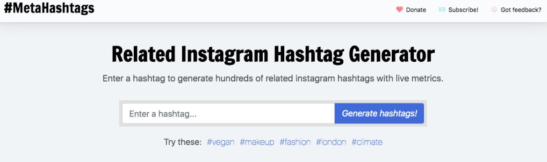 Metahashtags handige tool om Instagram hashtags te vinden