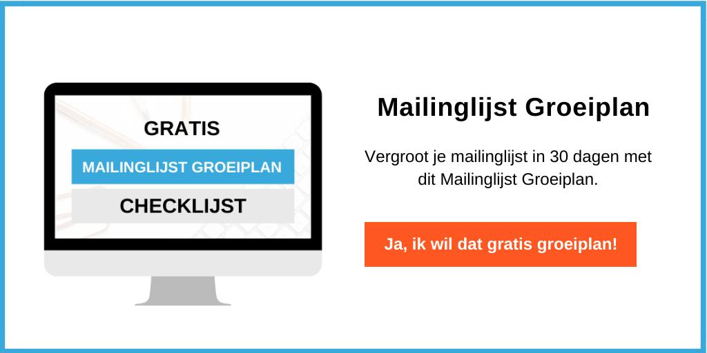 Mailinglijst groeiplan