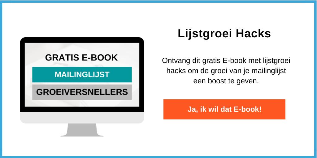 Ebook mailinglijst groeiversnellers