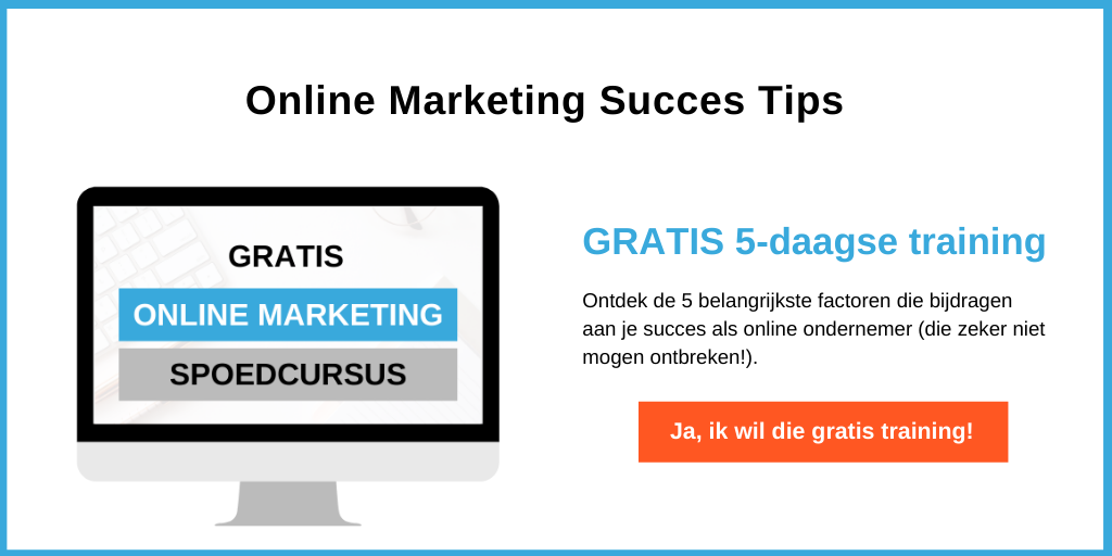 Online marketing training - online content maken