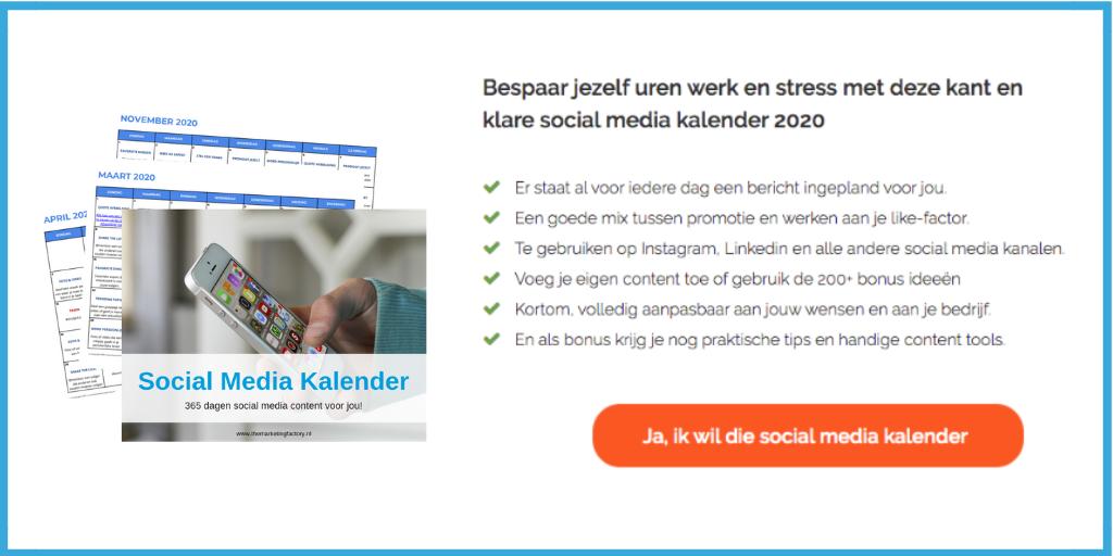 meer interactie op social media met de social media content kalender
