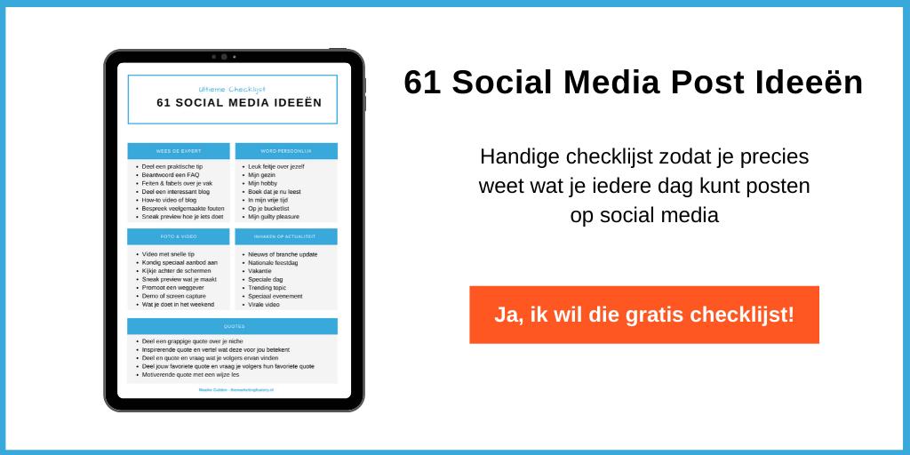 61 Social media post ideeen