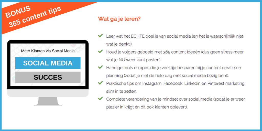 Social Media Succes Training