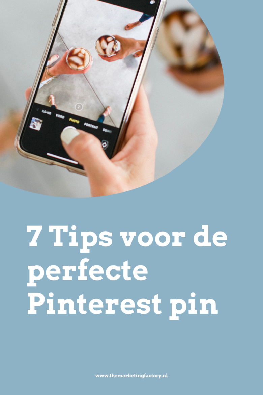 Hoe maak je de perfecte Pinterest pin? Een pin die opvalt en waar mensen graag op doorklikken omdat ze nieuwsgierig zijn wat je nog meer te vertellen hebt. Bekijk dit artikel met een handige tips voor de perfecte Pinterest pin. Wil je meer Pinterest marketing tips? En aan de slag met je Pinterest marketing strategy? Bekijk dan mijn gratis Pinterest marketing training | #marketing #themarketingfactory