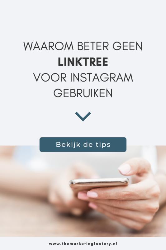 Linktree lijkt een perfecte oplossing voor Instagram. Hiermee kun je meer links toevoegen aan je Instagram profiel. Maar er is een veel betere oplossing. Bekijk hier waarom je Linktree beter niet kunt gebruiken en wat een goed alternatief is