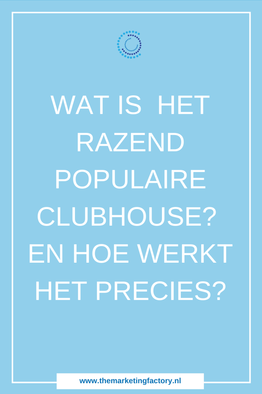 Wat is Clubhouse en hoe werkt het precies? Lees hier alles over deze razend populaire voice only app. Clubhouse is een app die zich compleet richt op voice. Het wordt vergeleken met Twitter, maar dan met voice | Clubhouse app | Wat is Clubhouse | Hoe werkt Clubhouse | #clubhouse #themarketingfactory