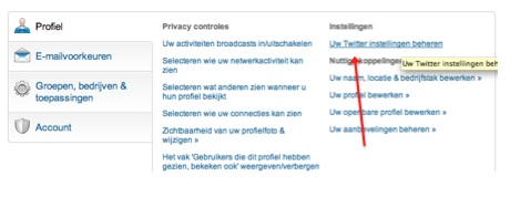 linkedin-koppelen-aan-twitter-instellingen