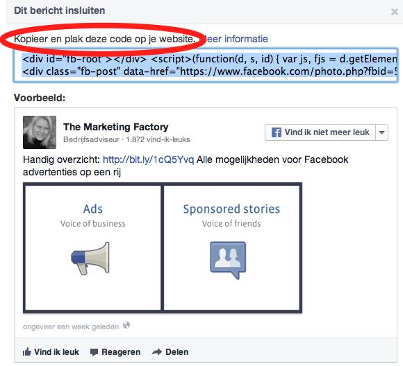 Hoe facebook berichten insluiten in je blog - Hoe een vierkante salon te voorzien ...