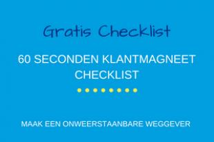 60 seconden klantmagneet checklist