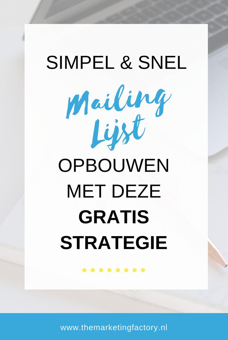 gratis strategie mailing lijst opbouwen