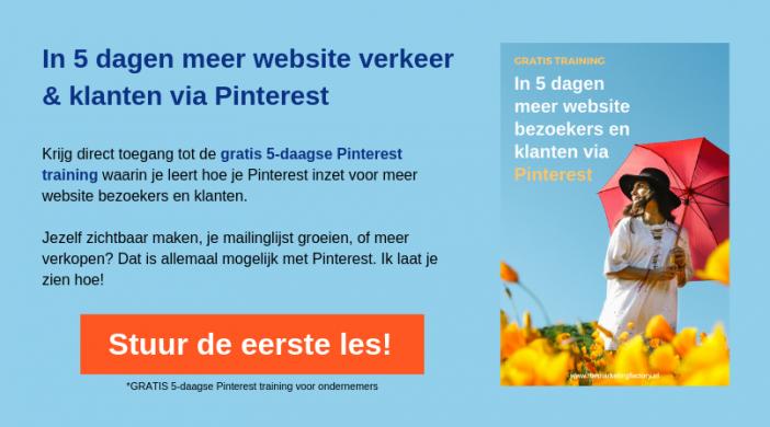 Gratis Pinterest training
