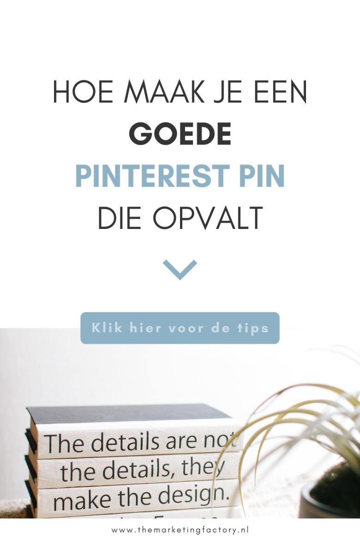 Als jij Pinterest inzet voor je online marketing wil je natuurlijk zo'n groot mogelijk bereik want al die nieuwe verse pins maken kost tijd. En je hebt nog wel wat meer te doen als ondernemer! Hier vind je 7 handige tips hoe je goede pins maakt. Een pin die de aandacht trekt van je klanten zodat je zoveel mogelijk rendement haalt uit je Pinterest marketing met minimale inspanning