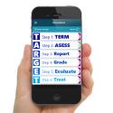 The TARGET app - held in hand