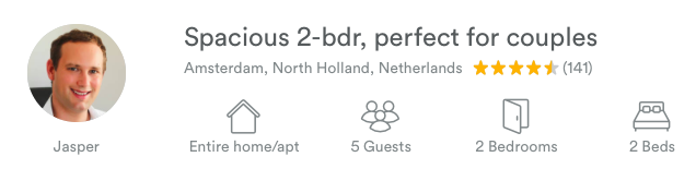 My Airbnb listing